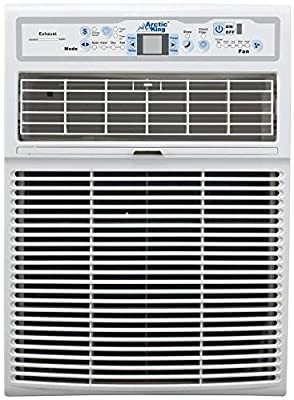 "Arctic King EWL08CRN1BJ9 15"" Energy Star Rated Slide Casement Window Air Conditioner with 8000 BTU Cooling Capacity, and LED Remote, in White"