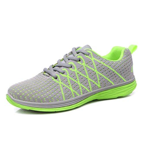 Yiblbox Kvinnor Tillfällig Lätt Andas Sneakers Atletisk Löparskor Promenadskor Grön
