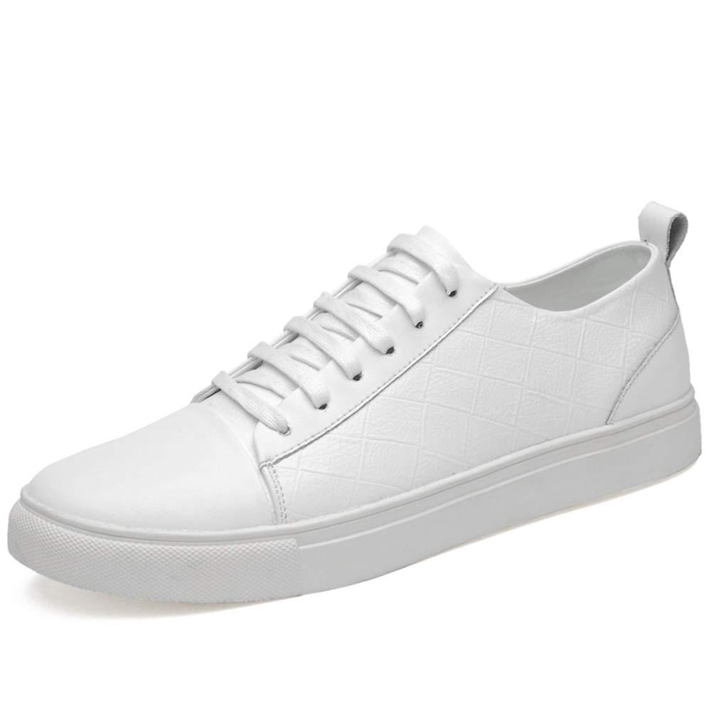 Blanc 45 EU paniers Classiques paniers paniers pour Hommes Confortables Chaussures de Marche Supérieur en Cuir PU,Chaussures de Cricket (Couleur   Noir, Taille   42 EU)