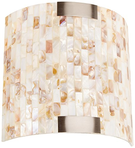 (Lite Source LS-16381 Schale Wall Sconce Lite with Shell Shade, White)