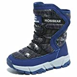 BODATU Boys Snow Boots Outdoor Waterproof Winter Kids Shoes by KALUQI(10, Navy)