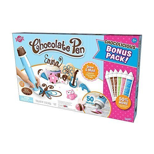 Candy Craft Chocolate Pen Exclusive Bonus Kit with 50 Molds and Bonus 50% More Chocolate
