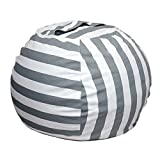 FUNOC Stuffed Animal Toy Storage Bean Bag Cover Kids Bean Bag Cover Chairs Gifts UK