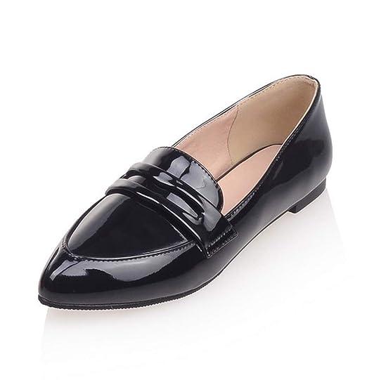 SERAPH C-7 Las Mujeres Mocasines Zapatos De Las Señoras De La Patente Toe Mocasines Escuela Zapatillas De Ballet: Amazon.es: Ropa y accesorios