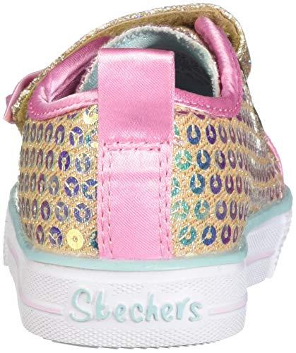 Skechers Kids Girls' Shuffle Lite-Mini Mermaid Sneaker, Gold, 10.5 Medium US Little Kid by Skechers (Image #2)