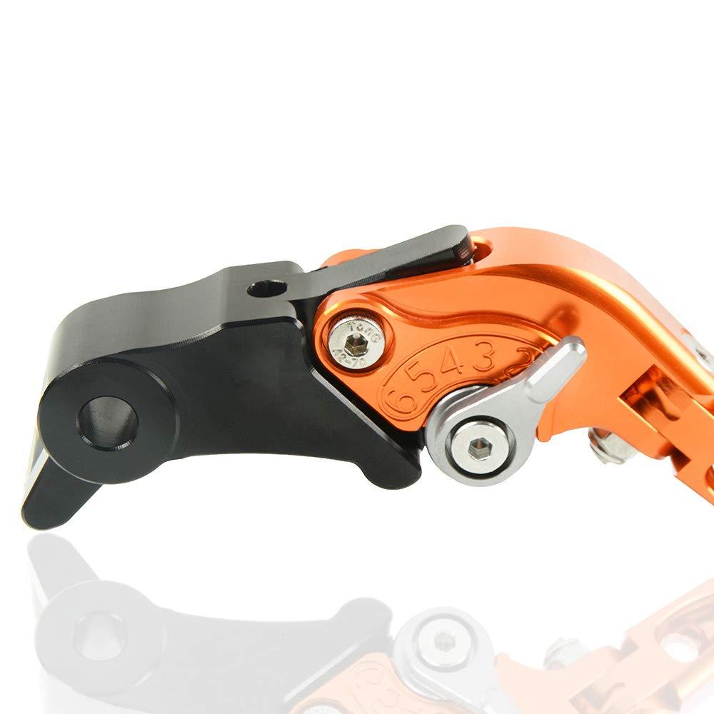 Motorrad CNC Aluminium Einstellbar Faltbar Bremskupplungshebel f/ür KTM Duke 790 2018 2019-Orange+Orange+Schwarz+Schwarz