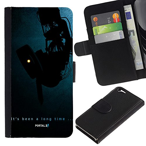 Funny Phone Case // Cuir Portefeuille Housse de protection Étui Leather Wallet Protective Case pour Apple Iphone 6 /Portail Aperture/
