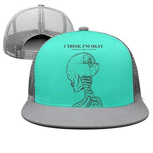 - Ina Fers. Unisex Fashion Hats Machine-Gun-Kelly-Hotel-Diablo- Flat-Brim Caps