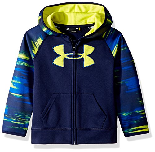 Under Armour Toddler Boys' Digital City Big Logo Hoody, Midnight Navy/Green, 2T (Big Logo Hoodie)
