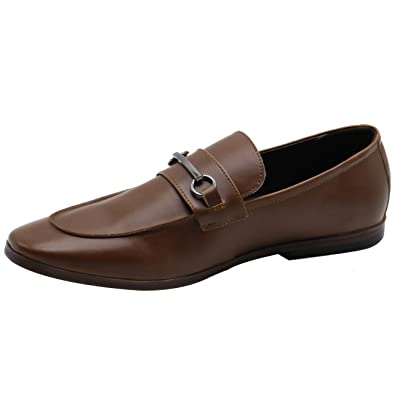 d2a264a2ad4 MAISMODA Men s Loafer Metal Buckle Slip-On Comfort in-Sole Driving Shoes (11