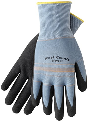 West County Gardener 030SA/L Grip Glove with Slate Stripe, Large, - Stores County West