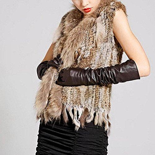 Minetom Mujer Otoño Invierno Gilet Calentar Chaleco Sin Mangas Tapas Elegante Abrigos Chaqueta Marrón
