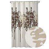 Discount Fabric Shower Curtains MAYTEX Delaney Tree Fabric Shower Curtain, 70X72, Chocolate