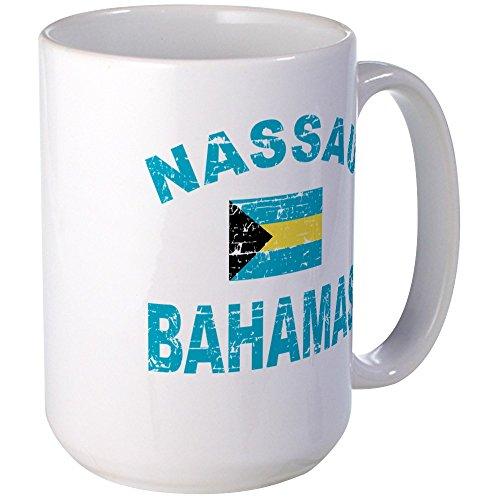CafePress - Nassau Bahamas Designs Large Mug - Coffee Mug, Large 15 oz. White Coffee Cup