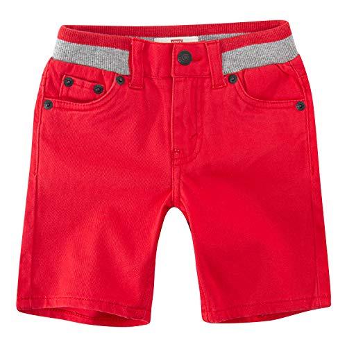 Levi's Boys' Toddler Slim Fit Chino Shorts, Lychee, 2T (Levi Shorts 2t Boys)