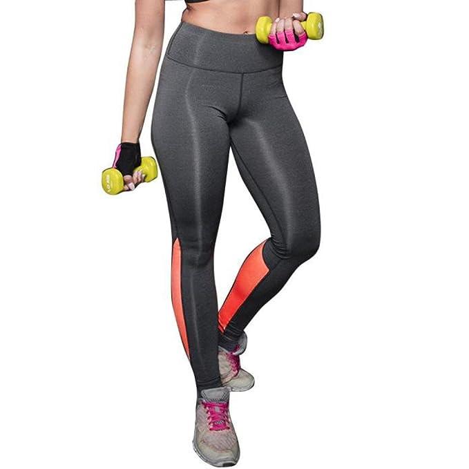 HARRYSTORE Mujer Pantalones elásticos de yoga de alta cintura Mujer Pantalones deportivos cómodos mujer Polainas Fitness Leggings