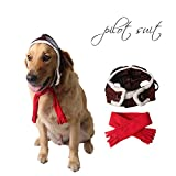 Pet Supplies Dog Hat Red Scarf Pilots Warm Hat (one size)