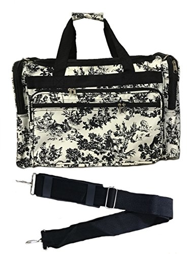 19-inch Travel Duffle Bag | Multiple Designs to Choose From | Perfect Travel Size Duffel Bag by Unique Traveler (French Country Side Toile)