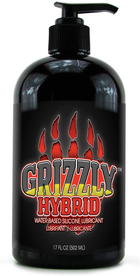 Nature Lovin' Grizzly Hybrid Water Based Silicone Blend 17 oz Personal Lubricant, Glycerin and Paraben Free