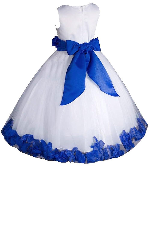 Amazon amj dresses inc baby girls whiteroyal blue flower girl amazon amj dresses inc baby girls whiteroyal blue flower girl pageant dress size l special occasion dresses clothing izmirmasajfo