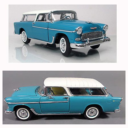 - 1/24 Scale Danbury Mint 1955 Chevy Nomad Station Wagon