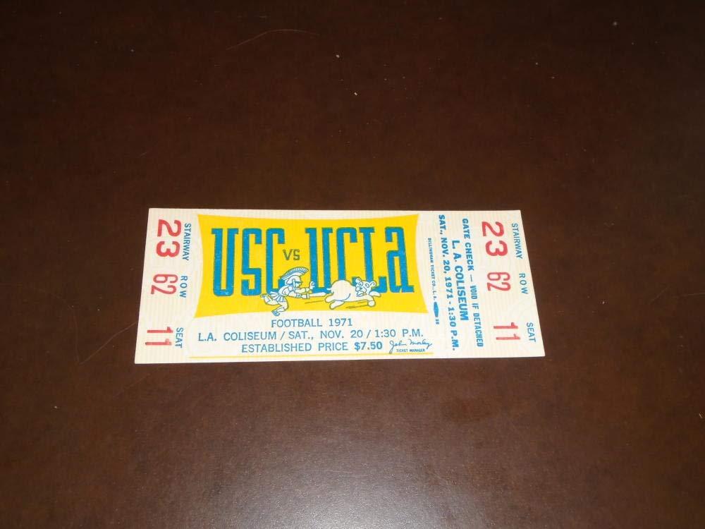 1971 USC AT UCLA COLLEGE FOOTBALL FULL TICKET EX MINT