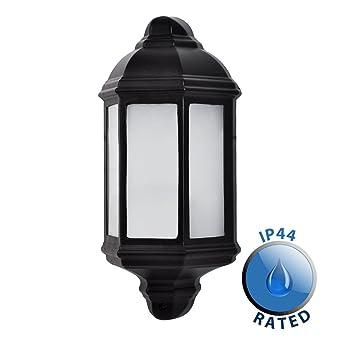 Black country metal farola de pared para exteriores de aluminio circular para exteriores IP44 luz -
