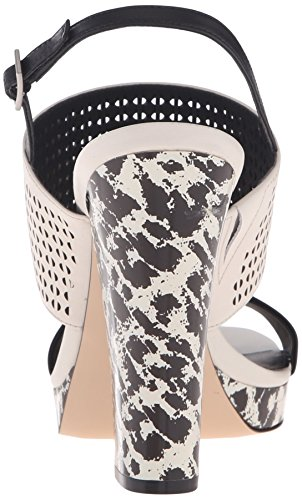 Klein Women's Soft Dress Breannie White Sandal Platform Calvin Black zdfqFdO