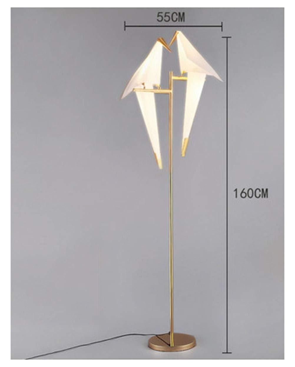 SGKJJ フロアランプリビングルームシンプルでモダンな寝室イケアクリエイティブ垂直ベッドサイドランプ研究鳥鳥ペーパークランプランプ -759フロアスタンドランプ (UnitCount : Double head) B07Q71FC6R  Double head, コシガヤシ 11774ff2