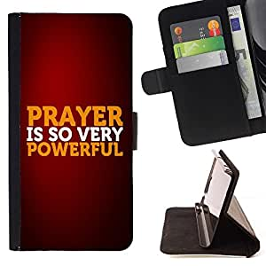 Momo Phone Case / Flip Funda de Cuero Case Cover - Oración Biblia es tan muy de gran alcance; - LG G4c Curve H522Y (G4 MINI), NOT FOR LG G4
