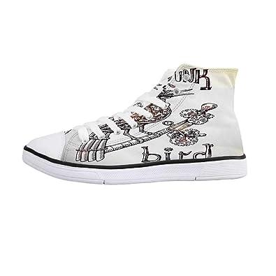 Amazon.com: Surrealista cómodos zapatos de lona de alta ...