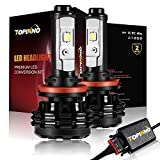 06 mazda 6 headlight assembly - TOPINNO LED Headlight Bulbs Conversion Kit, Extremely Bright CREE XHP50 10000LM, H11 (H8/H9) - 6000K Xenon White Headlight Assembly
