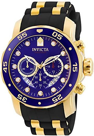 Invicta Men s 6983 Pro Diver Collection Chronograph Blue Dial Black Polyurethane Watch