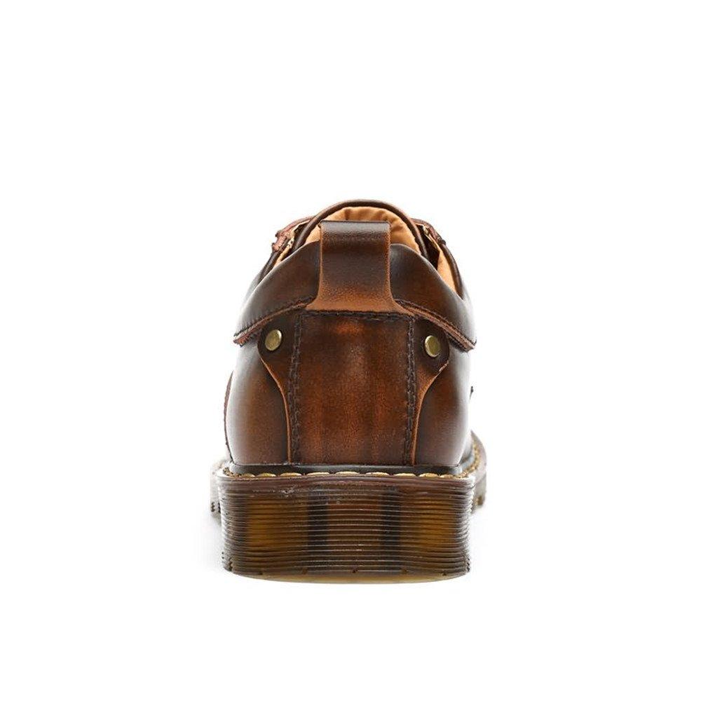 Xujw-schuhe, 2018 Schuhe Herren, Herren Oxfords up Flache Ferse Volltonfarbe Lace up Oxfords PU-Leder Formale Schuhe (Farbe : Schwarz, Größe : 44 EU) Brass a58f9a