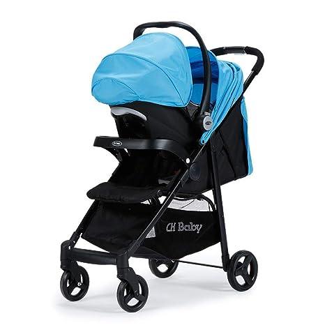 Ambiguity Sillas de Paseo,Puede Sentarse bebé Carro Paisaje Alto Plegable Coche de los niños