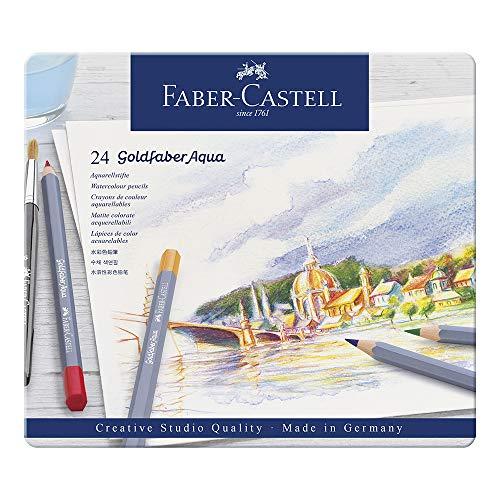 Faber-Castell Creative Studio Goldfaber Watercolor Pencils (24 Count)