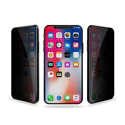 に慣れ天才弱いiPhoneX ガラスフィルム iPhoneXS ガラスフィルム 覗き見防止 プライバシー 保護 4D フルカバー 調整フレーム付属 硬度9H 飛散 指紋キズ 防止 全面保護 アイフォンX 強化ガラスフィルム