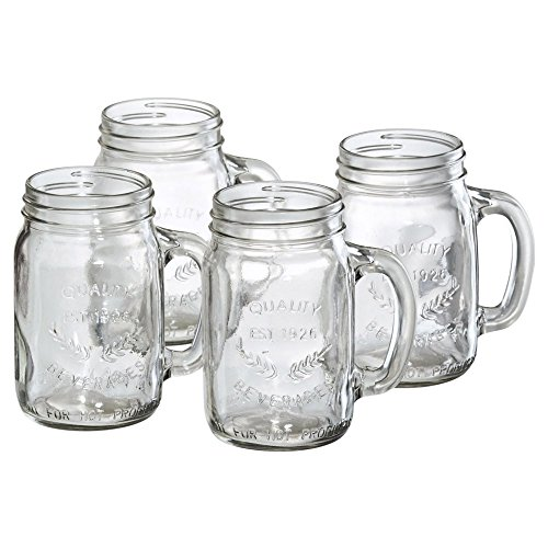 Artland Oasis Mason Jar with Handle - Set of 4 ()