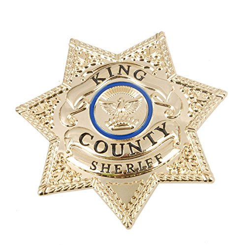 Walking Dead Sheriff Costumes (Generic the Walking Dead King Country Sheriff Prop Metal Badge)