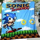 JUST FUNKY Sonic The Hedgehog Fleece Blanket [Blue