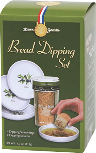 Dean Jacob's 5 piece Melamine Bread Dipping Set ~ 4 oz.