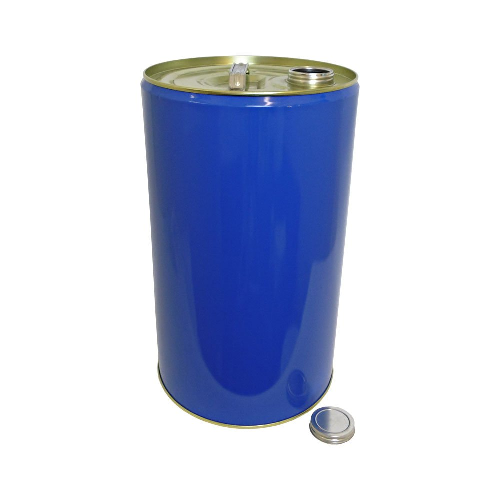 25 Litre Ltr L Blue Metal Barrel Drum Tinplate with Screw LidВ UN Approved for Storage Solvent Based Products Paint Oil ChemicalsВ Oipps