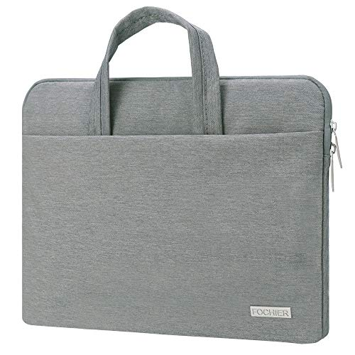 13.3 Inch Laptop Sleeve Case Bag with Handle, Portable & Water Resistant Laptop Protective Handbag Compatible Macbook Notebook Chromebook Ultrabook Sony Tablet iPad pro, Support up to 13.5 Inch - Grey