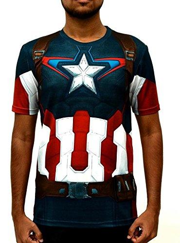 7d6a1ab8 CAPTAIN AMERICA T SHIRT - 3D Printed Superhero jersey material - Gym wear,  Sports wear