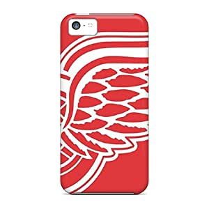 First-class Cases Covers For Iphone 5c Dual Protection Covers Detroit Red Wings