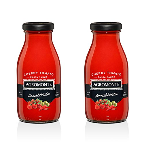 Agromonte Authentic Italian Cherry Tomato Sauce (Arrabbiata, 2 Pack 9.17 Oz)