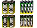 8 Aa 2600 Mah + 8 Aaa 1200 + 4 C 3000 Mah + 4 D 4000 Mah Nimh Accupower Batteries