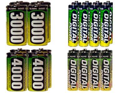 8 Aa 2600 Mah + 8 Aaa 1200 + 4 C 3000 Mah + 4 D 4000 Mah Nimh Accupower Batteries