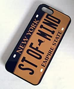 Diy Yourself BLACK cell phone case cover for iphone 6 4.7 / 6+ NEW YORK STATE OF ufEAJyNjRAX MIND LICENSE PLATE