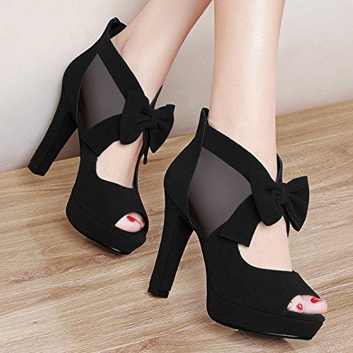 Schuhe Koreanische Track Fisch Schuhe Die AJUNR Version Sandalen Flut Schuhe Frauen Mund Damen Neue neue Schuhe 35 Heeled Grobe Mode Dick High mit wilden AxAt1vq
